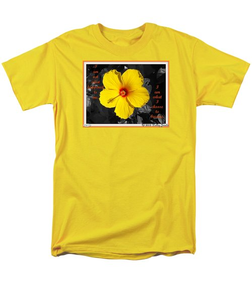 Men's T-Shirt  (Regular Fit) featuring the digital art I Choose To Become by Holley Jacobs
