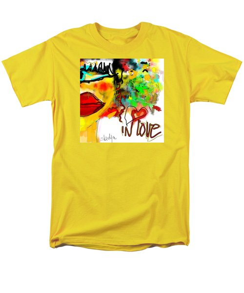 Men's T-Shirt  (Regular Fit) featuring the digital art In Love  by Sladjana Lazarevic
