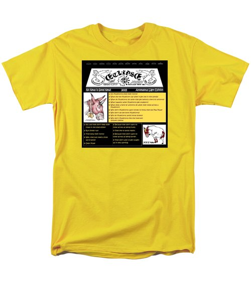 Men's T-Shirt  (Regular Fit) featuring the painting Real Fake News Muleicorn Jokes by Dawn Sperry