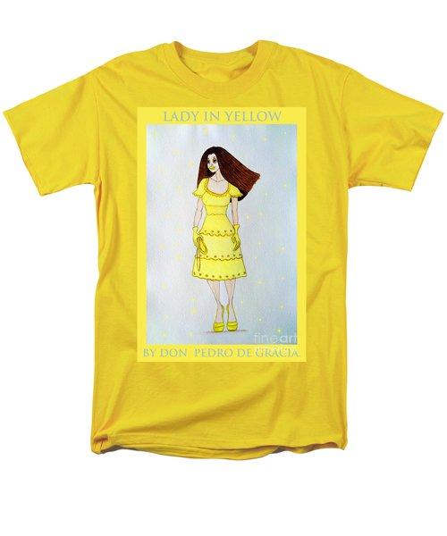 Lady In Yellow Men's T-Shirt  (Regular Fit) by Don Pedro De Gracia