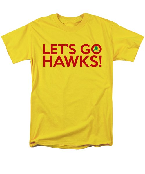 Let's Go Hawks Men's T-Shirt  (Regular Fit) by Florian Rodarte