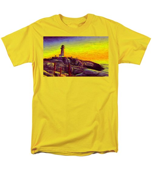 Lighthouse Sunset Men's T-Shirt  (Regular Fit) by Caito Junqueira