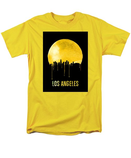 Los Angeles Skyline Yellow Men's T-Shirt  (Regular Fit) by Naxart Studio