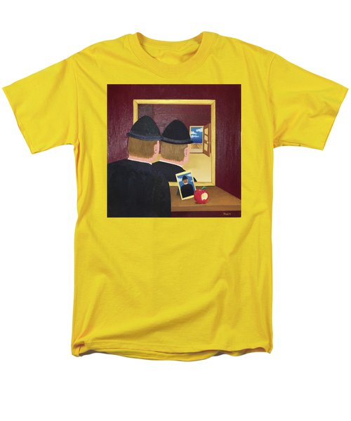 Man In The Mirror Men's T-Shirt  (Regular Fit) by Thomas Blood