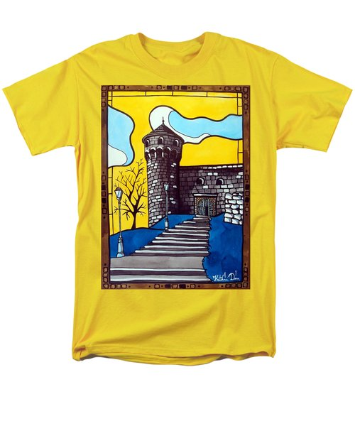 Medieval Bastion -  Mace Tower Of Buda Castle Hungary By Dora Hathazi Mendes Men's T-Shirt  (Regular Fit) by Dora Hathazi Mendes