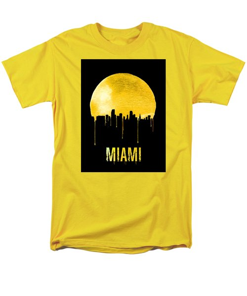 Miami Skyline Yellow Men's T-Shirt  (Regular Fit) by Naxart Studio