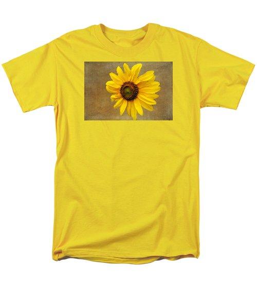 Men's T-Shirt  (Regular Fit) featuring the photograph Oak Street Sunflower by Tom Singleton