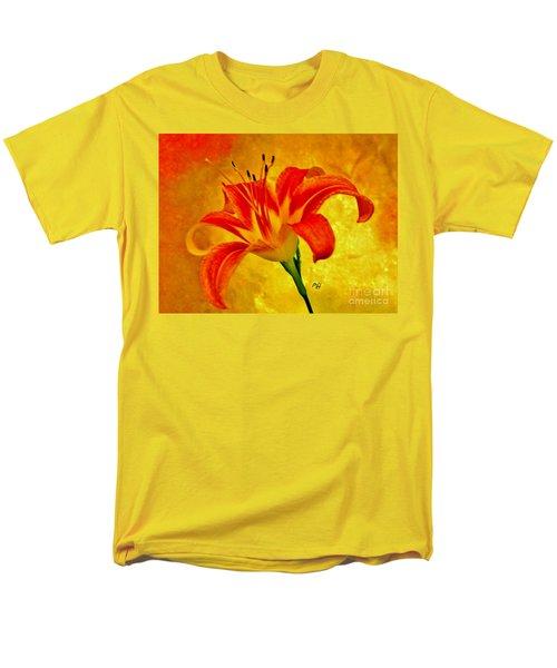 One Tigerlily Men's T-Shirt  (Regular Fit) by Marsha Heiken