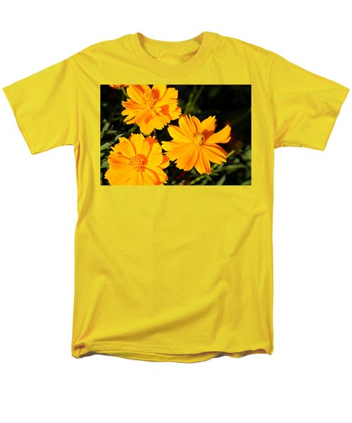 Men's T-Shirt  (Regular Fit) featuring the photograph Cosmos Trio by Sheila Brown