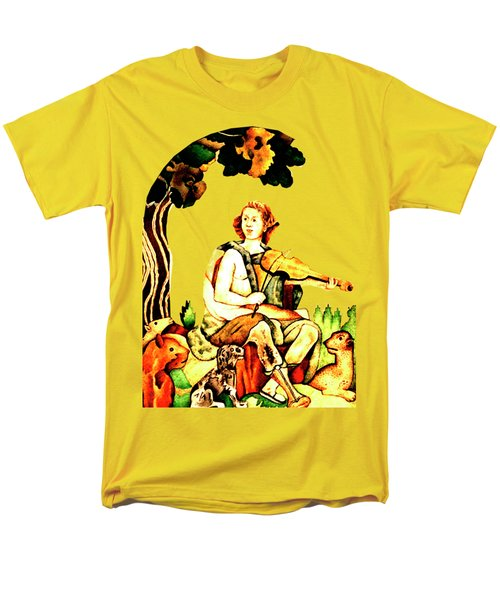 Men's T-Shirt  (Regular Fit) featuring the mixed media Orpheus by Asok Mukhopadhyay