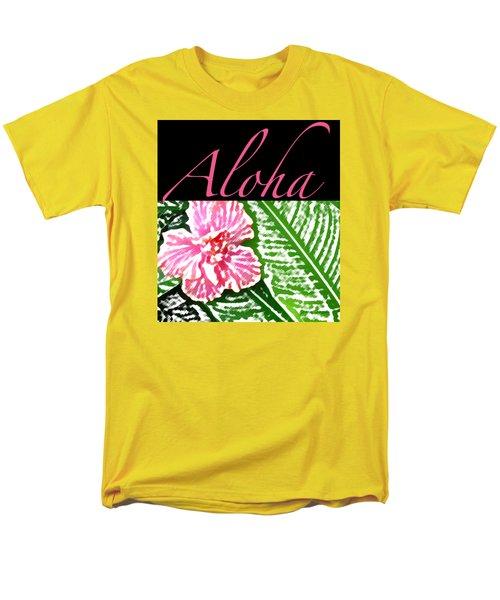 Pink Hibiscus Aloha Men's T-Shirt  (Regular Fit)