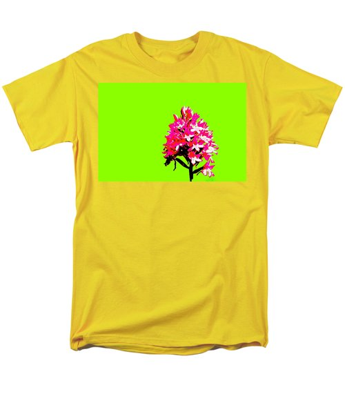Green Pyramid Orchid Men's T-Shirt  (Regular Fit) by Richard Patmore