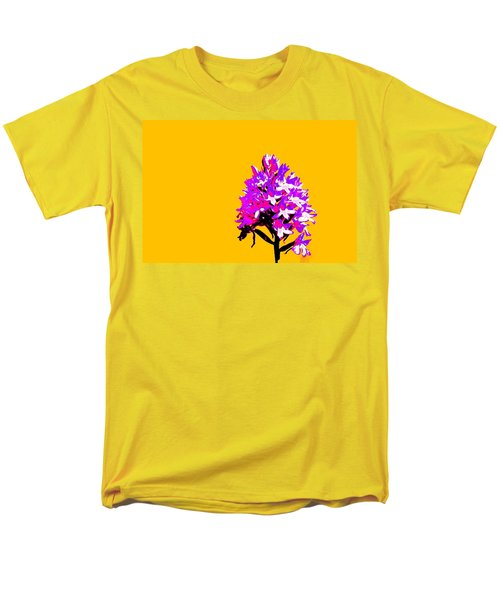Orange Pyramid Orchid  Men's T-Shirt  (Regular Fit) by Richard Patmore