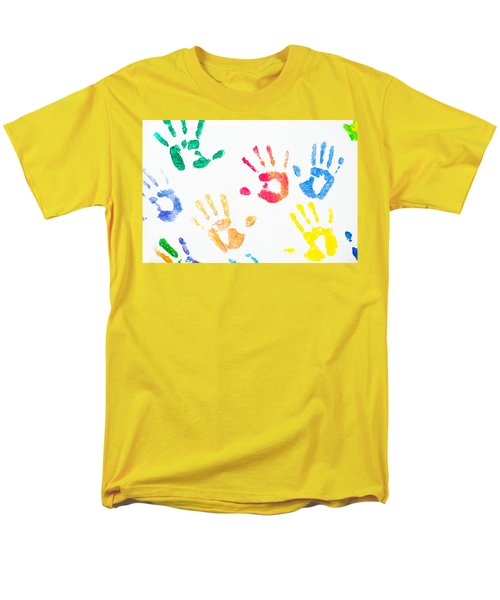 Men's T-Shirt  (Regular Fit) featuring the photograph Rainbow Color Arms Prints 1 by Jenny Rainbow