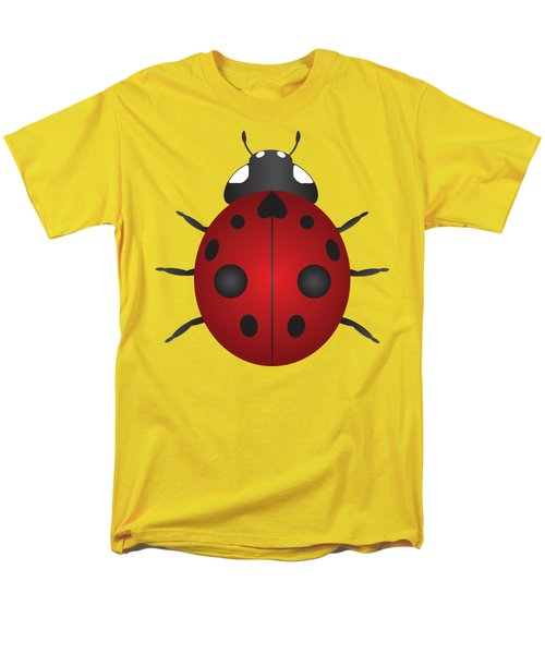 Red Ladybug Color Illustration Men's T-Shirt  (Regular Fit) by Jit Lim