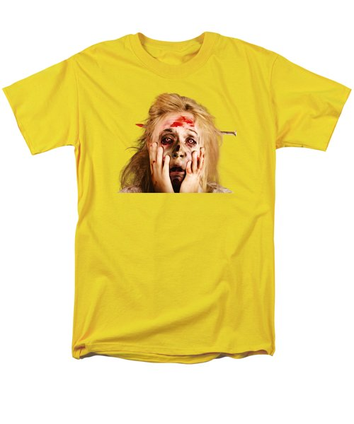 Scared Halloween Monster With Nail Through Head Men's T-Shirt  (Regular Fit)