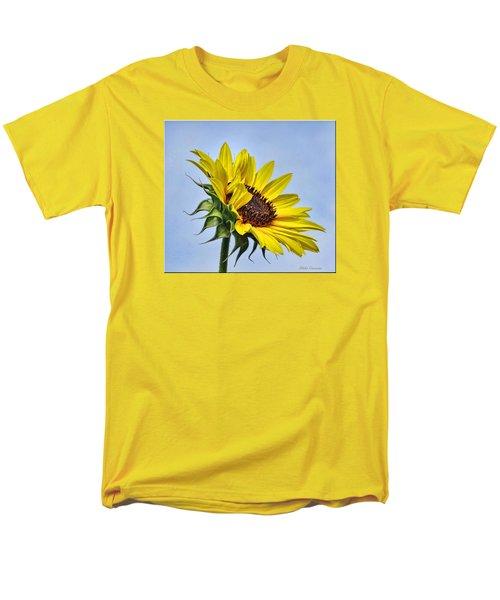 Single Sunflower Men's T-Shirt  (Regular Fit) by Mikki Cucuzzo