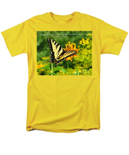 Men's T-Shirt  (Regular Fit) featuring the photograph Sitting Pretty Giving by Diane E Berry