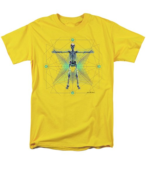 Men's T-Shirt  (Regular Fit) featuring the digital art Skeletal System by Iowan Stone-Flowers