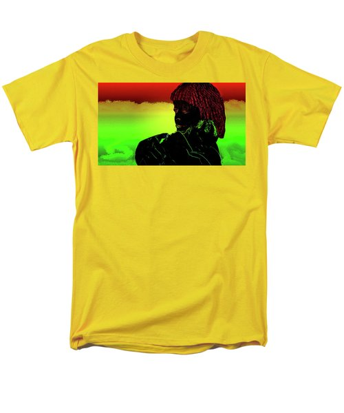 Men's T-Shirt  (Regular Fit) featuring the mixed media Soul Mates by Mike Breau