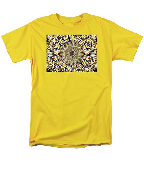 Men's T-Shirt  (Regular Fit) featuring the photograph Stained Glass Kaleidoscope 22 by Rose Santuci-Sofranko