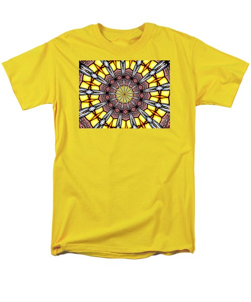 Men's T-Shirt  (Regular Fit) featuring the photograph Stained Glass Kaleidoscope 23 by Rose Santuci-Sofranko