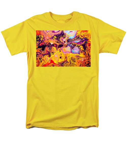 Summer Play  - Abstract Colorful Mixed Media Painting Men's T-Shirt  (Regular Fit) by Modern Art Prints