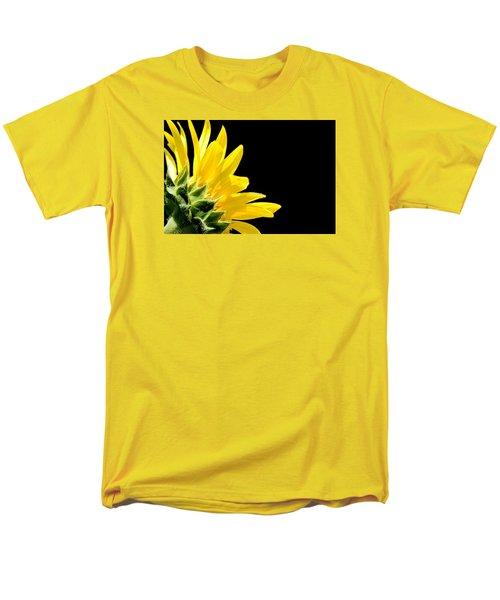 Sunflower On Black Men's T-Shirt  (Regular Fit)