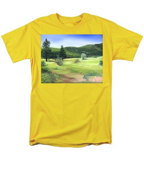 Sunlit Mountain Meadow Men's T-Shirt  (Regular Fit) by Jane Autry