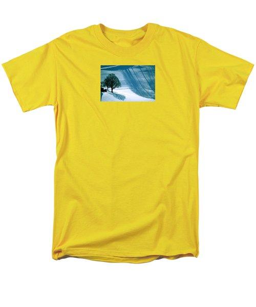 Men's T-Shirt  (Regular Fit) featuring the photograph Sunshine And Shadows - Winterwonderland by Susanne Van Hulst