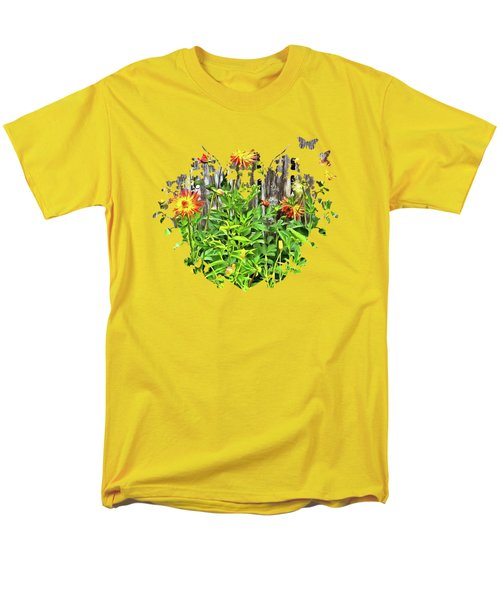 The Flowers Along The Fence  Men's T-Shirt  (Regular Fit) by Thom Zehrfeld