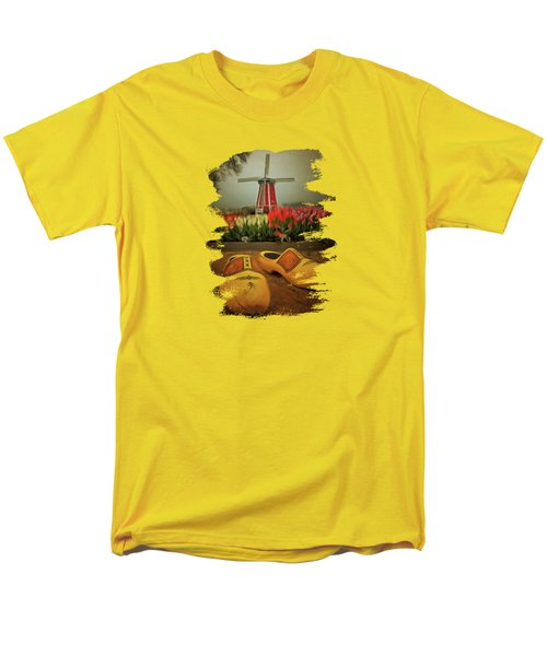 The Yellow Wooden Shoes Men's T-Shirt  (Regular Fit) by Thom Zehrfeld
