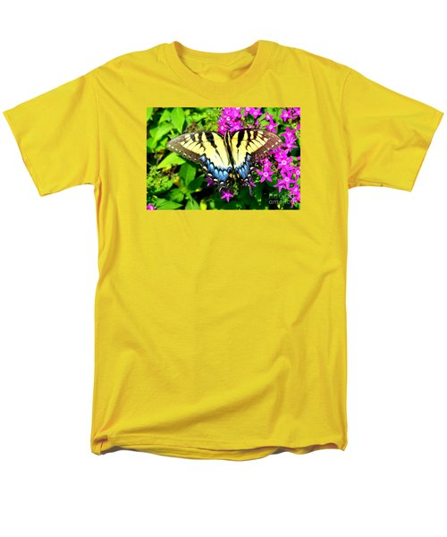 Tiger Swallowtail Men's T-Shirt  (Regular Fit) by Lew Davis