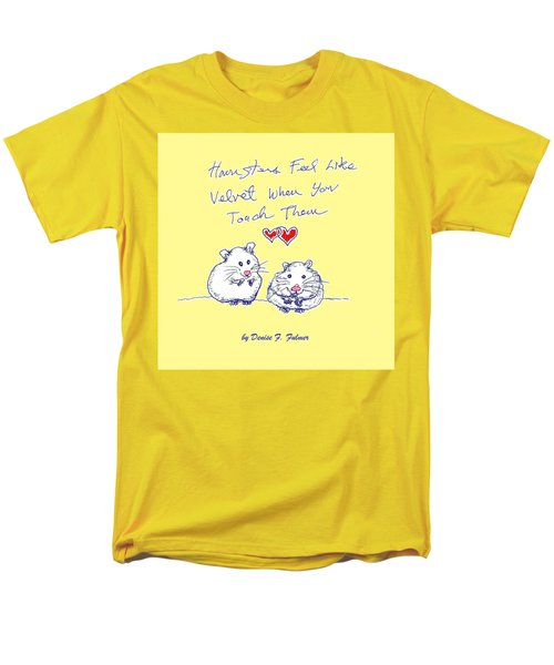 Men's T-Shirt  (Regular Fit) featuring the drawing Title Page For Hamster Book by Denise Fulmer