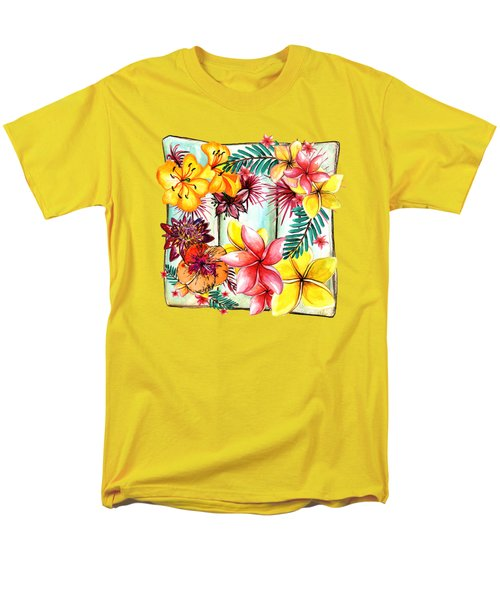 Men's T-Shirt  (Regular Fit) featuring the photograph Tropicana By Kaye Menner by Kaye Menner