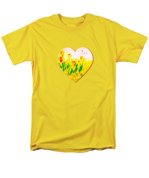 Tulips In Springtime-floral Painting By V.kelly Men's T-Shirt  (Regular Fit) by Valerie Anne Kelly