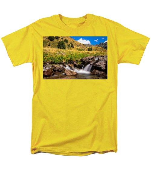 Valle Di Viso - Ponte Di Legno Men's T-Shirt  (Regular Fit) by Cesare Bargiggia
