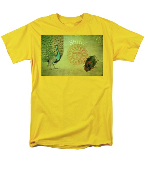 Men's T-Shirt  (Regular Fit) featuring the digital art Vintage Peacock Art by Peggy Collins