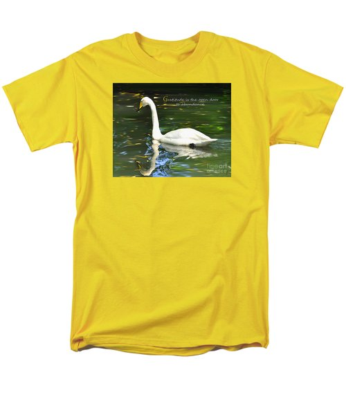 Men's T-Shirt  (Regular Fit) featuring the painting Whooper Swan Gratitude by Diane E Berry