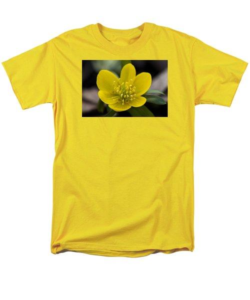 Winter Aconite Men's T-Shirt  (Regular Fit) by Dan Hefle
