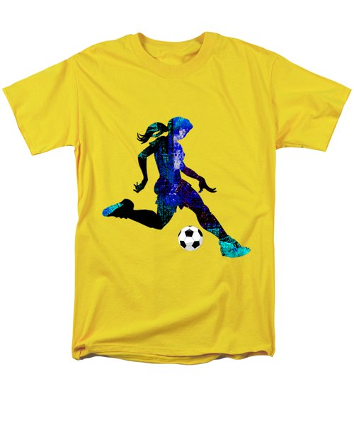 Womens Girls Soccer Collection Men's T-Shirt  (Regular Fit) by Marvin Blaine