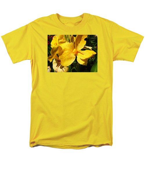 Men's T-Shirt  (Regular Fit) featuring the photograph Yellow Canna Lily by Shawna Rowe