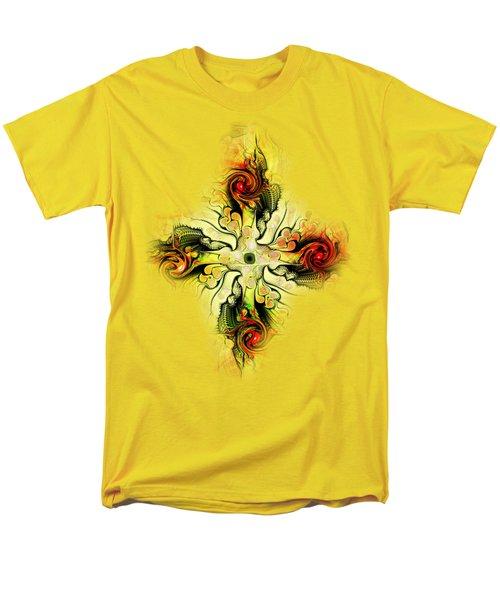 Yellow Cross Men's T-Shirt  (Regular Fit) by Anastasiya Malakhova