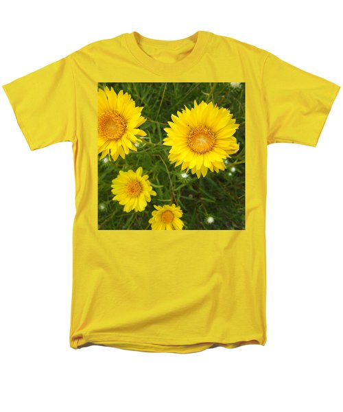 Yellow Flowers No. 1 Men's T-Shirt  (Regular Fit) by Sandy Taylor