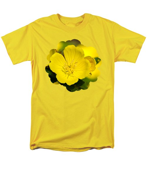 Yellow Flowers - Evening Primrose Men's T-Shirt  (Regular Fit) by Christina Rollo