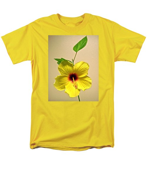 Yellow Hibiscus Men's T-Shirt  (Regular Fit) by Stephanie Moore
