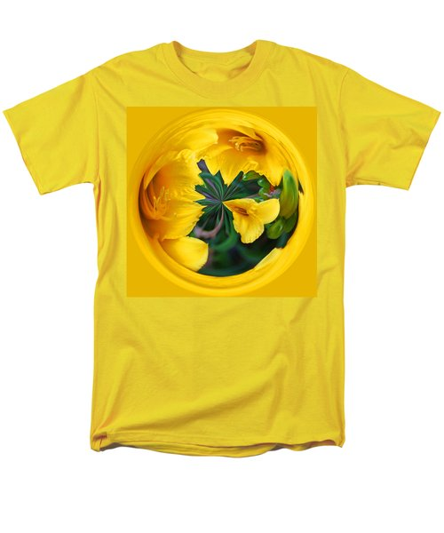 Yellow Lily Orb Men's T-Shirt  (Regular Fit)