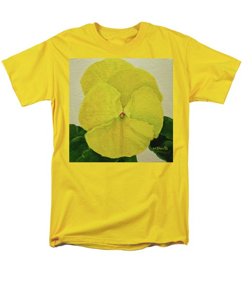 Yellow Pansy Men's T-Shirt  (Regular Fit) by Wendy Shoults
