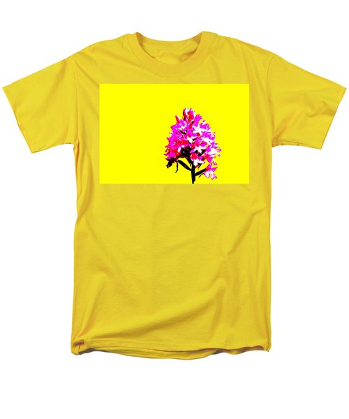 Yellow Pyramid Orchid Men's T-Shirt  (Regular Fit) by Richard Patmore