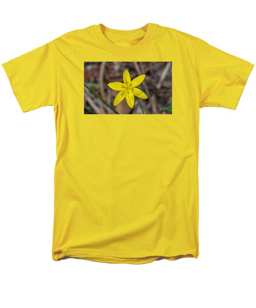 Yellow Star Grass Flower Men's T-Shirt  (Regular Fit) by Kenneth Albin